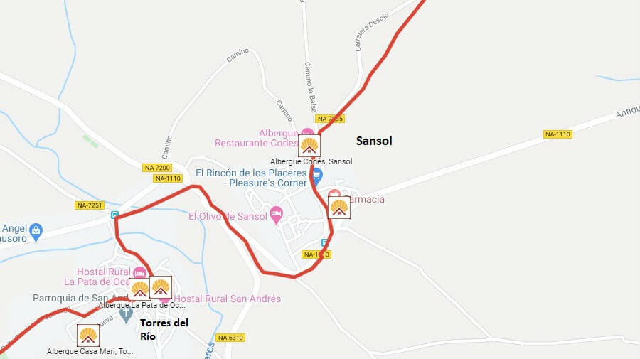 Albergues de peregrinos en Sansol, Navarra - Camino Francés :: Albergues del Camino de Santiago