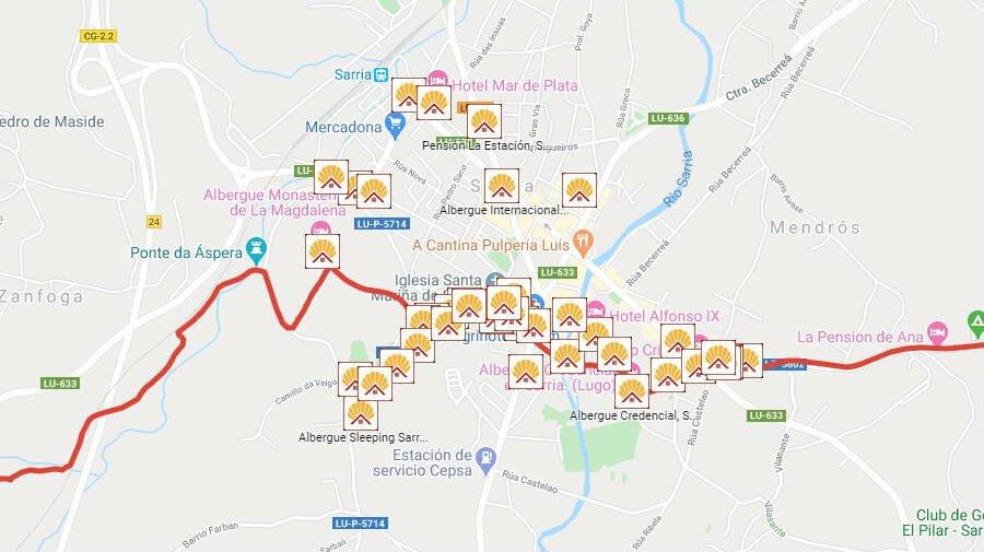 Albergues de peregrinos en Sarria, Lugo - Camino Francés :: Albergues del Camino de Santiago