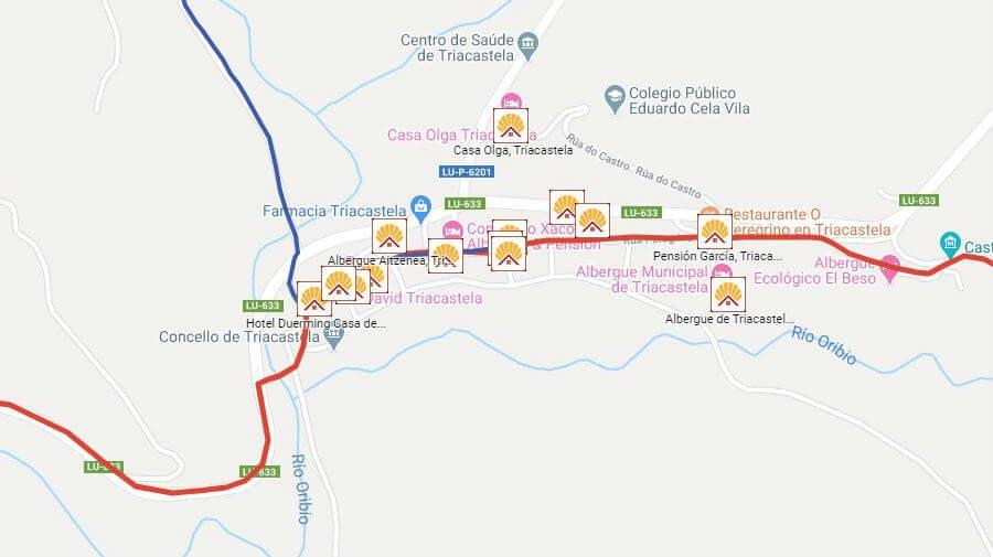 Albergues de peregrinos en Triacastela, Lugo - Camino Francés :: Albergues del Camino de Santiago