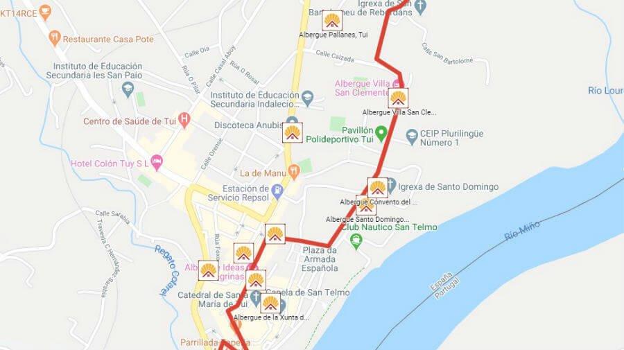 Albergues de peregrinos en Tui, Pontevedra - Camino Portugués :: Albergues del Camino de Santiago