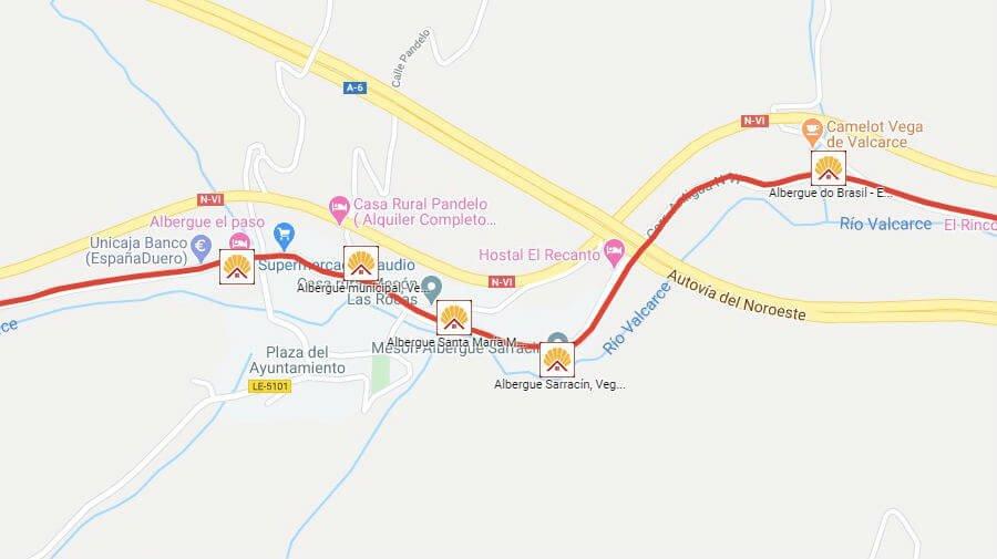 Albergues de peregrinos en Vega de Valcarce, León - Camino Francés :: Albergues del Camino de Santiago