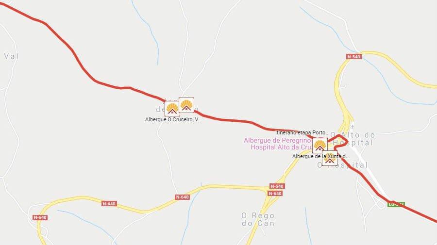 Albergues de peregrinos en Ventas de Narón, Lugo - Camino Francés :: Albergues del Camino de Santiago