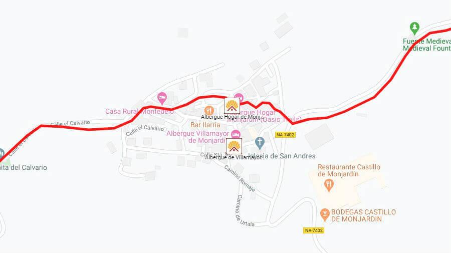 Albergues de peregrinos en Villamayor de Monajrdín, Navarra - Camino Francés :: Albergues del Camino de Santiago