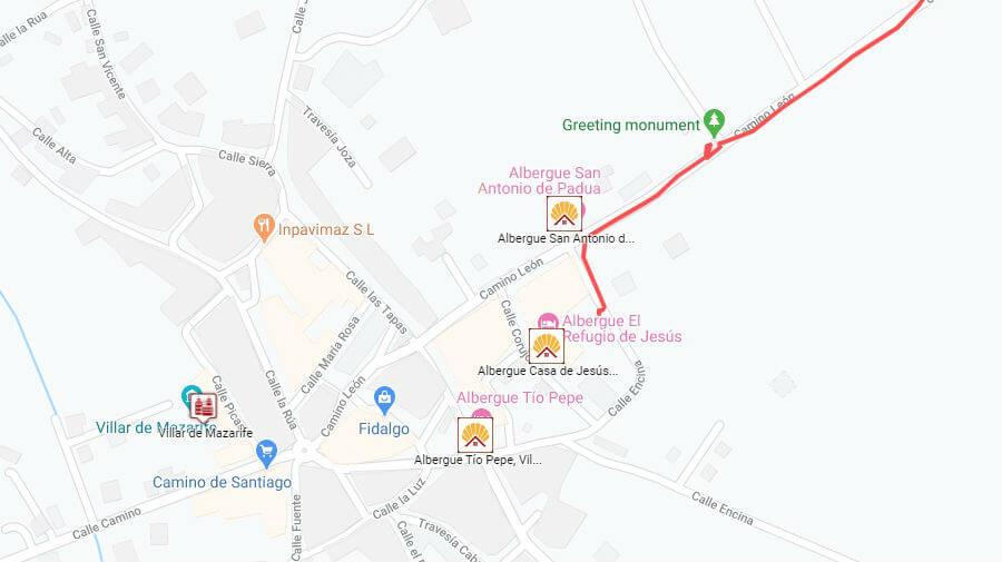 Albergues de peregrinos en Villar de Mazarife, León - Camino Francés :: Guía del Camino de Santiago