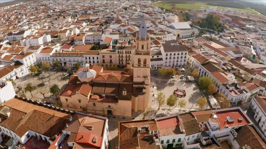 Vista de Villafranca de los Barros, Badajoz - Vía de la Plata :: Guía del Camino de Santiago