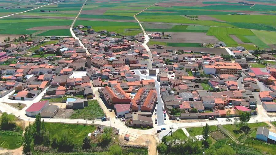 Vista aérea de Calzada de Valdunciel, Salamanca - Vía de la Plata :: Guía del Camino de Santiago